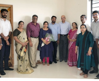 Our team with Mr. Vivek & family of apartment no.C 13 in Crescent Lavender, after handing over