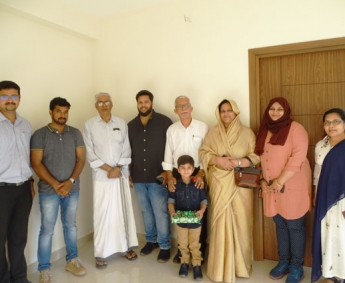 Our team with Ms. Subaida & family of apartment no.D 1 in Crescent Lavender, after handing over