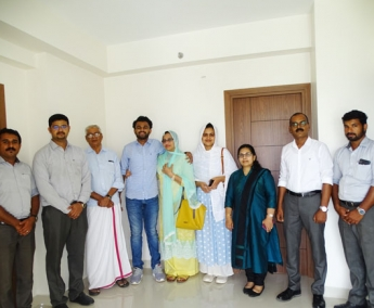 Our team with Ms. Sorniya & family of apartment no.C 14 in Crescent Lavender, after handing over