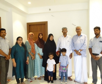Our team with Mr.Shajahan& family of apartment no.C 03 in Crescent Lavender, after handing over