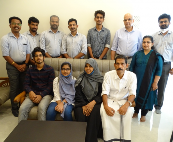 Our team with Mr.Kunhammed and family of apartment no. D05 in Crescent Lavender, after handing over