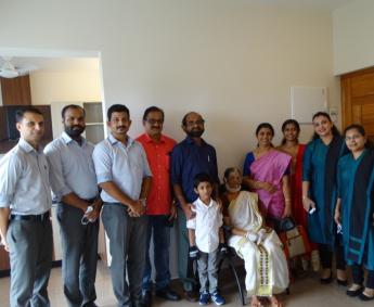 Our team with Ms.Bindiya and family of apartment no. G13 in Crescent Lavender, after handing over