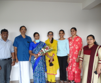 Our team with Dr. Suma Unnikrishnan and family of apartment no. B06 in Crescent Lavender, after handing over