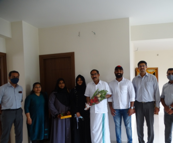 Our team with Mr.Tahseen Hameedudden and family of apartment no. C02 in Crescent Lavender, after handing over