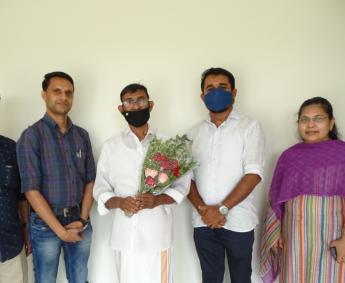 Our team after handing over of apartment no.B04 in Crescent Lavender on behalf of Mr. Ahsraf K K