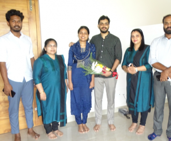 Our team with Mr.Mohammed Jaisal P and family of apartment no. G15 in Crescent Lavender, after handing over