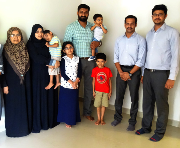 Our team with Mr. Abi Mohammed  and family of apartment A2 in Crescent Aster after handing over