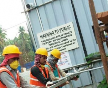 Shows sanitization facility arranged at the site