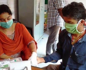 Shows medical camp conducted by health officials